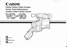canon camcorder vc 10 user guide manualsonline com