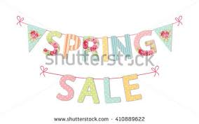 cute vintage banner welcome spring shabby stock illustration