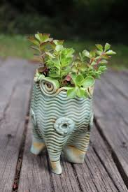 decoration unique handmade ceramic planter ceramic owl garden