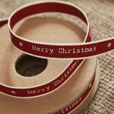 merry christmas ribbon east of india merry christmas ribbon white edging narrow 3m