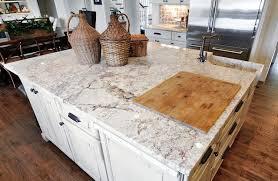 Kitchens With White Granite Countertops - white spring granite countertop houzz