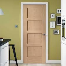 Shaker Style Exterior Doors by Shaker 4 Panel Oak Fire Door Is 1 2 Hour Fire Rated