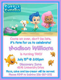 12 printed guppies personalized birthday invitations