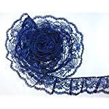 navy blue lace ribbon blue lace trim embellishments arts crafts sewing