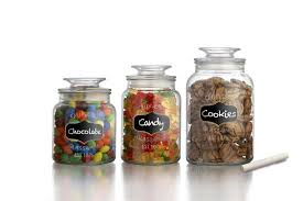 kitchen jars and canisters sealed glass canister jars with chalkboard labels for the
