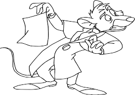 the great mouse detective basil cartoon coloring pages