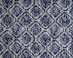 Blue And Grey Curtains Ikat Valance Etsy