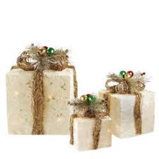 lighted christmas present boxes set of 3 outdoor lighted christmas presents