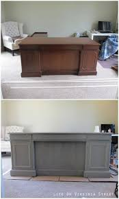 Chalk Paint Desk by Office Desk Upgrade Desk Makeover Annie Sloan Chalk Paint And