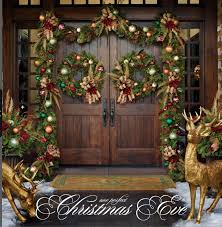 love the mix of rustic u0026 glam on this entrance christmas