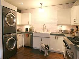 laundry in kitchen inspiration washers dryers in the kitchen apartment therapy