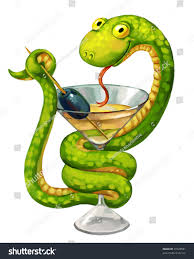 martini cup cartoon green snake martini glass olive snake stock illustration 97428581