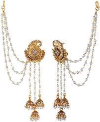 designer earrings tatva exclusive american diamond based designer earrings with kan