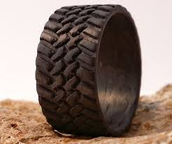 carbon fiber wedding rings carbon fiber tire tread rings dudeiwantthat