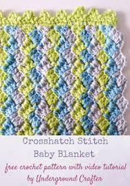 crochet pattern crosshatch stitch baby blanket with video