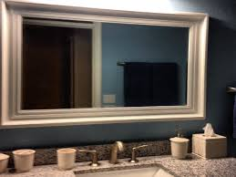Wood Framed Bathroom Mirrors by Bathroom Ideas Wood Framed Bathroom Wall Mirrors With Two Wall