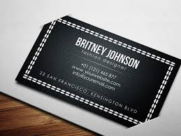 fashion designer business card psd free download