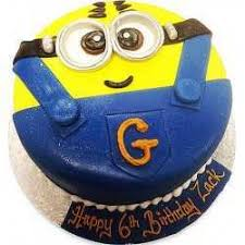 kids birthday cakes minion cake 2d for a childs birthday with free delivery
