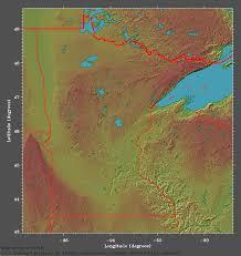 minnesota topographic map elevational relief map of minnesota