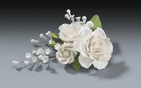 gardenia bouquet gumpaste white flower spray sweetnfancy emporium