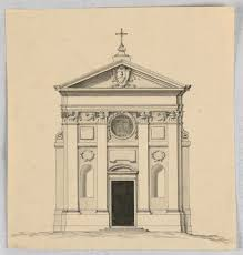 drawing elevation of a small church objects collection of