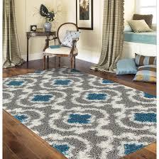 marigny touro trellis grey turquoise shag rug 7 u002710 x 10 u0027 free