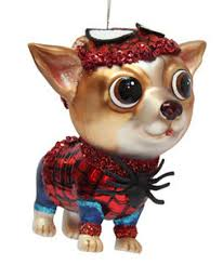 december diamonds glass ornament chihuahua spider