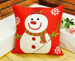 Outdoor Decorative Christmas Pillows by Embroidered Christmas Pillow Cushion Covers Red Decorative Throw