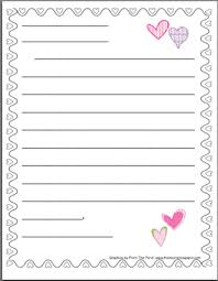 letter writing paper s friendly letter stationery winter themes