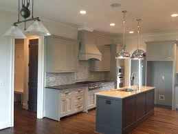 Dark Grey Cabinets Kitchen by Sherwin Williams Dorian Gray Cabinets Urbane Bronze Islands