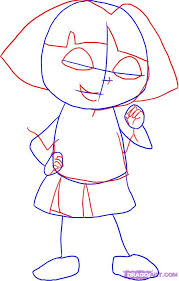 draw dora the explorer step by step drawing sheets added by