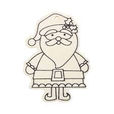 pack of 4 christmas pendant paint your own santa claus kookeli