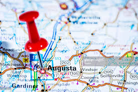 map of maine cities us capital cities on map series augusta maine me stock photo
