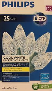 energy star led c9 lights amazon com philips 25ct cool white led faceted c9 string christmas