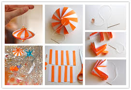 the diy easy striped paper ornament the diy