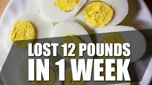 egg diet for weight loss how i lost 12 pounds in one week youtube