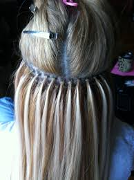 microbead extensions micro bead hair extension placement island hair
