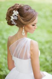 bridal hairstyles updo long hair women medium haircut