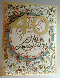 happy 40th wedding anniversary cards by