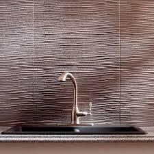 entrancing silver color wave pattern galvanized steel backsplash