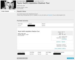 taylor swift fan club address 4 x taylor swift concert tickets wembley 22 june 2018 seated