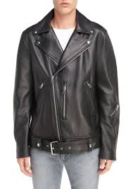 leather moto jacket acne acne studios nate belted leather moto jacket outerwear