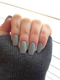 gray coffin shape nails winter nails amzn to 2idawtq luxury