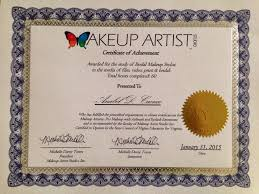 makeup artistry certification program about