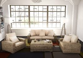 salon de veranda en osier idées déco rotin design