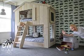 chambre garçon lit superposé lit cabane superposé enfant dutchwood