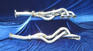 nissan altima coupe headers 370z long tube headers with straight pipe motor dyne engineering