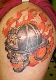 35 firefighter helmet tattoos