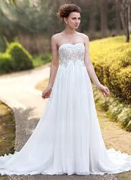 robe de mariã e bustier dentelle forme empire bustier en coeur traîne moyenne mousseline robe de