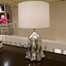 Luxe Home Design Inc Mercury Glass Fluted Tulip Table Lamp Lamp Works Inc Luxe